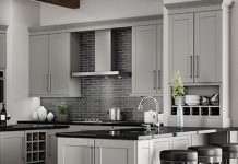 stock image of a kitchens showroom