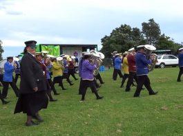 Representatives from seven Rātana bands at Te Pa o Te Ariki (Te Ariki Park), 17 November 2017., at the Morehu Day Aotearoa 2017