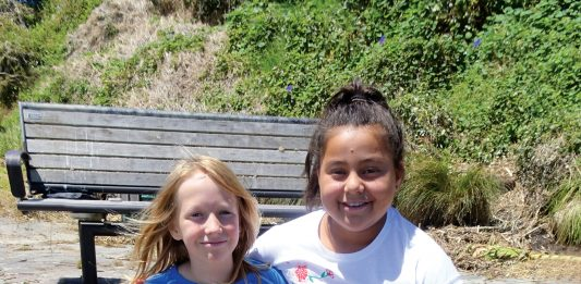 Tauranga Waldorf School classmates Reilly (10) and Amorē (10) offer to take all the credit for their Dads collaboration.