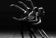 Atock photo of dancers in a theatre production