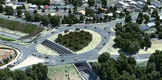 artists aerial impression of Maungatapu Underpass Project