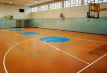 a basketball sports court