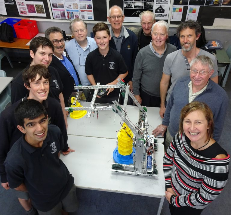 Freemason support to Tauranga Boys' College Robotics Club