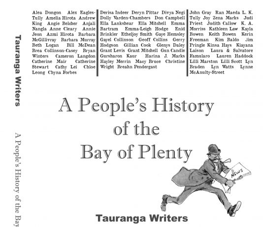 The cover of a book entitled A People's History of the Bay of Plenty