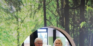 Western Bay Mayor Garry Webber and CEO Miriam Taris check out the new children's section at The Centre - Patuki Manawa