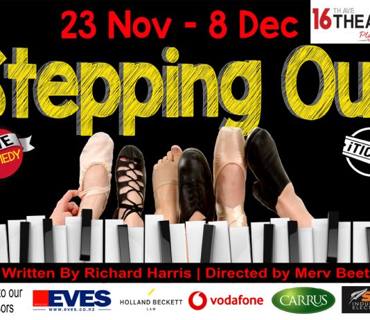 poster for the play stepping out