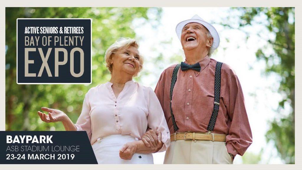 Poster For the 2019 Tauranga Active Retirees Expo