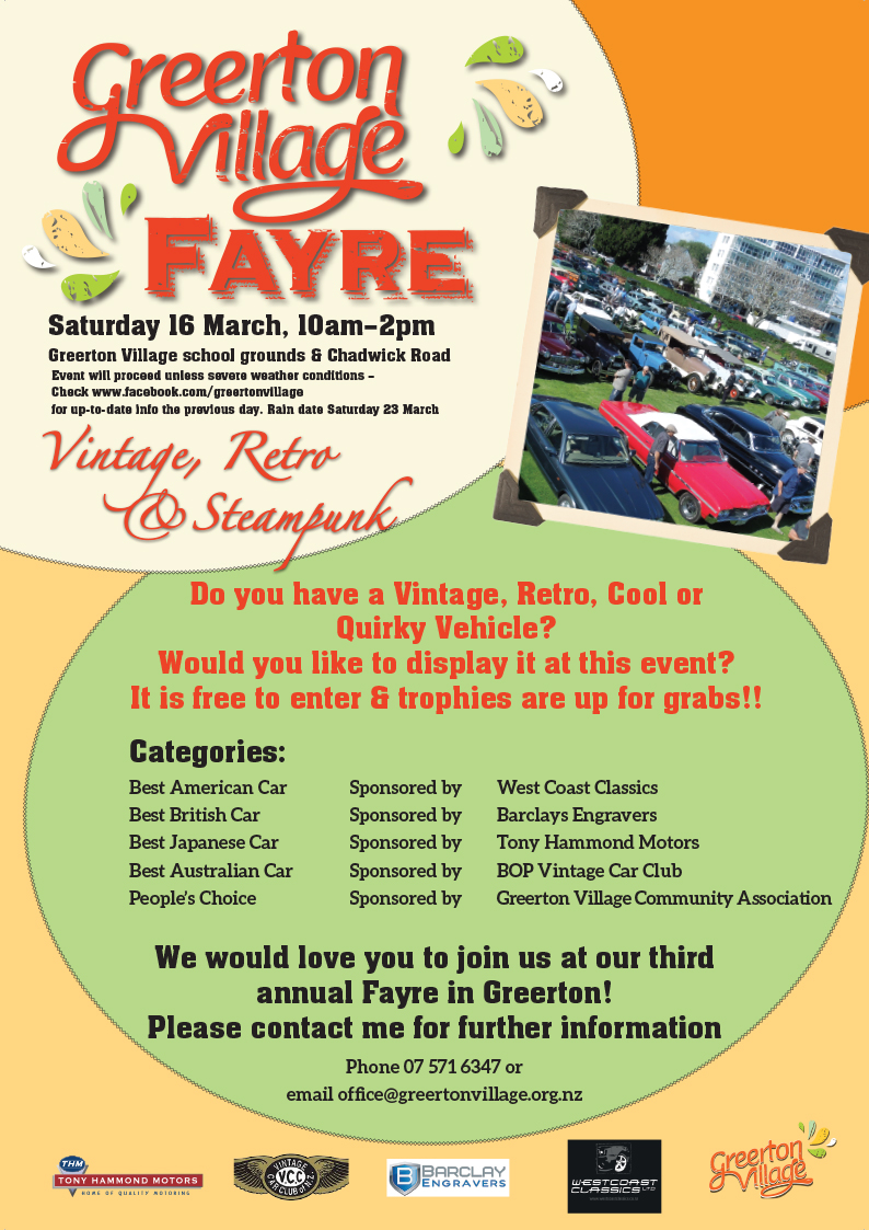 Greerton Village Fayre 2019 – Saturday 16 March, 10am – 2pm