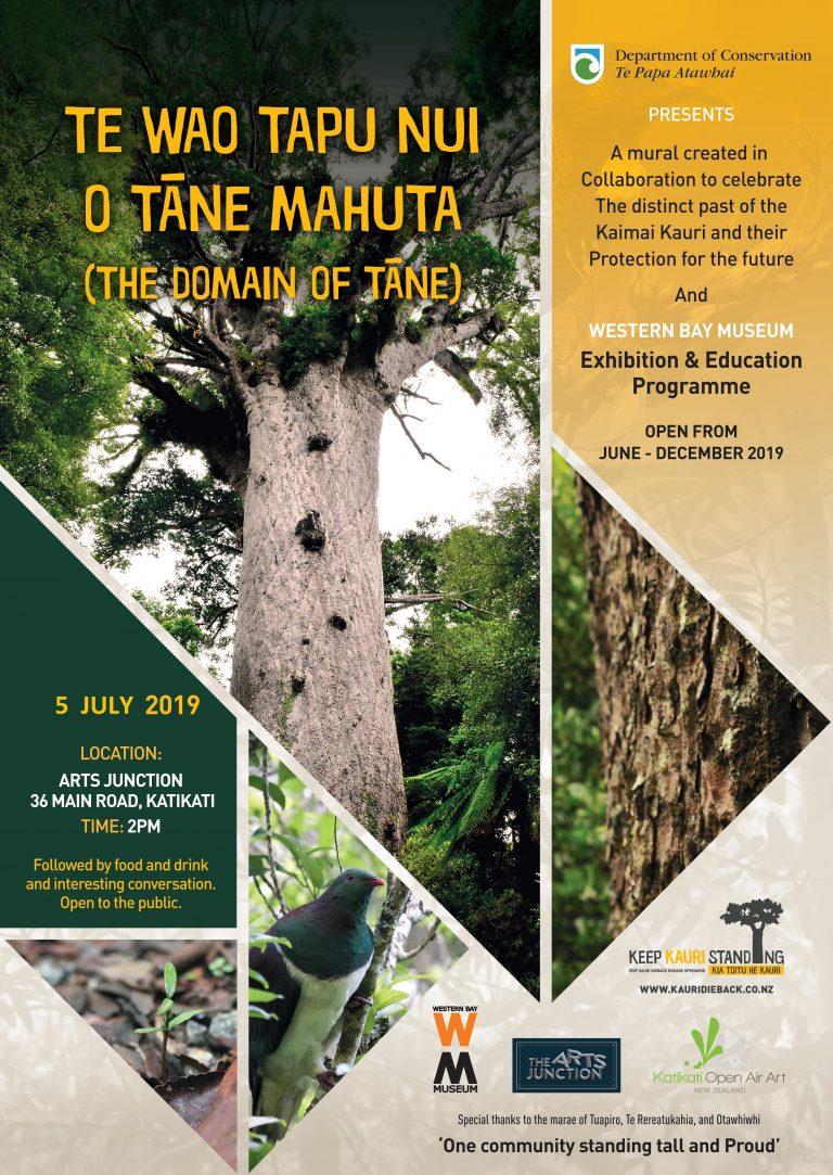 """Mural Unveiling """"Te Wao Tapu Nui o Tane Mahuta – The Domain of Tane"""""""