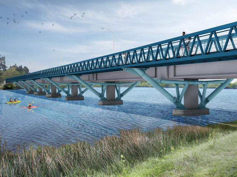 Wairoa River Bridge Cycleway Underway