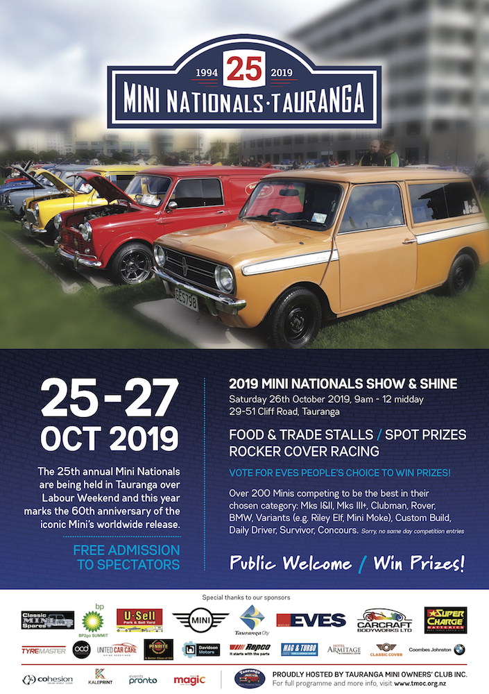 2019 Mini Nationals event over Labour Weekend
