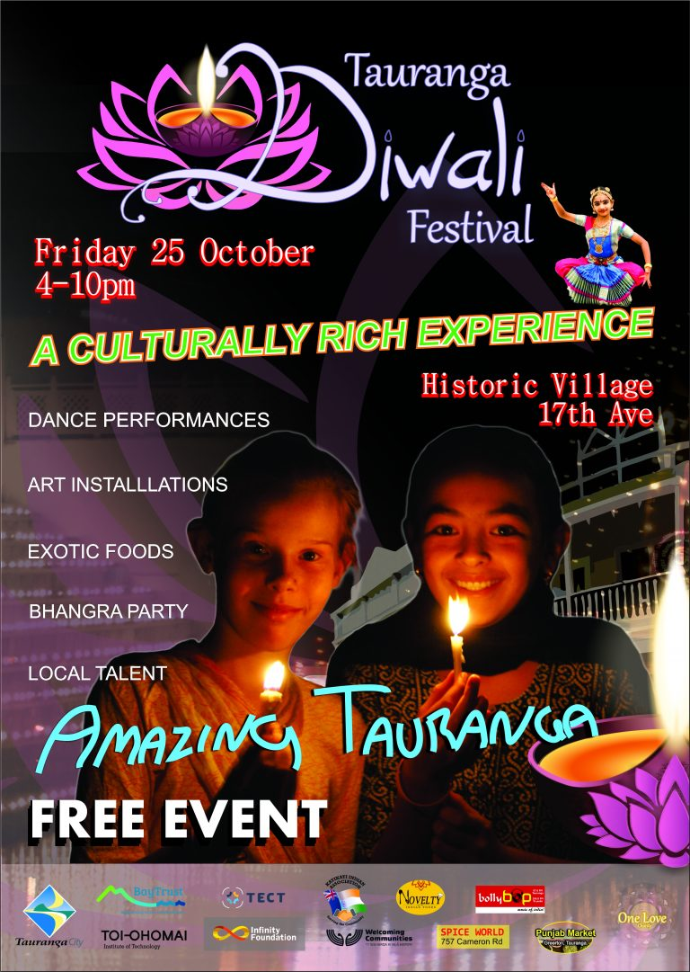 Diwali Festival to spread love, light, colour and sound in Tauranga this labour weekend